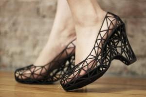 Zapatos construidos mediante impresión 3D. Fuente: Wikipedia