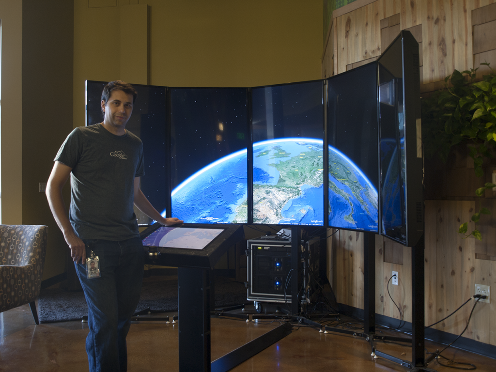 Display interactivo con Google Earth