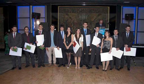 Diego Domínguez y Rubén del Río en la entrega de premios del COITT