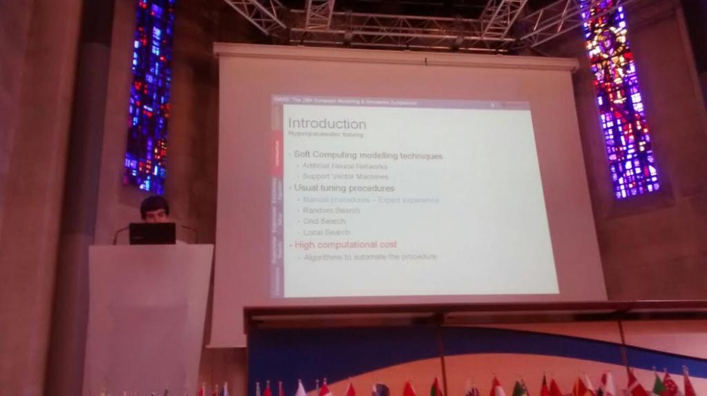 Presentación de resultados en una conferencia internacional